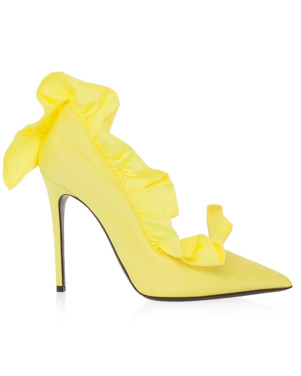 туфли из текстиля с внутренней кожаной отделкой  артикул MDS40 марки MSGM купить за 30400 руб.
