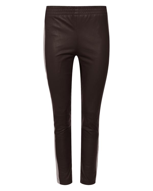 брюки из кожи прилегающего силуэта  артикул MIAMI230597 марки P.A.R.O.S.H. купить за 26300 руб.