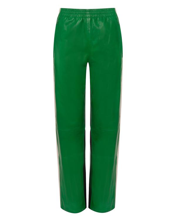 брюки из кожи с трикотажной отделкой артикул MIAMI230598 марки P.A.R.O.S.H. купить за 29100 руб.