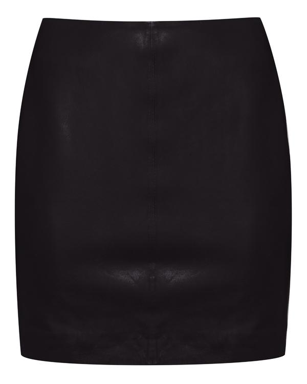 юбка мини из кожи с высокой посадкой  артикул MIAMI630529 марки P.A.R.O.S.H. купить за 18000 руб.