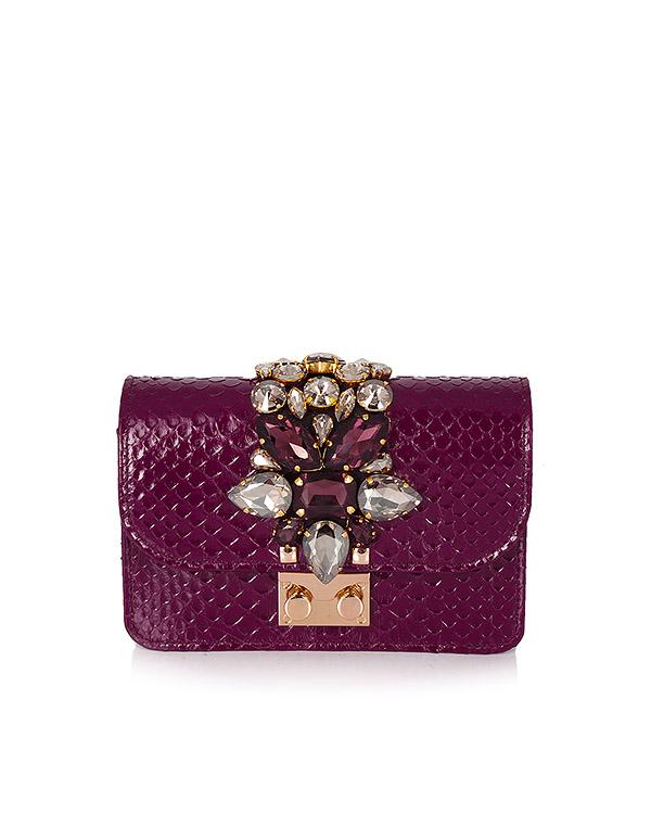 сумка из кожи с кристаллами артикул MINICLIKY марки GEDEBE купить за 45200 руб.