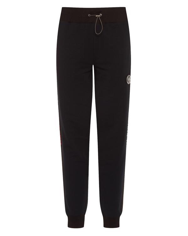 брюки спортивные с брендированными лампасами  артикул MJT0632 марки PHILIPP PLEIN sport купить за 27100 руб.
