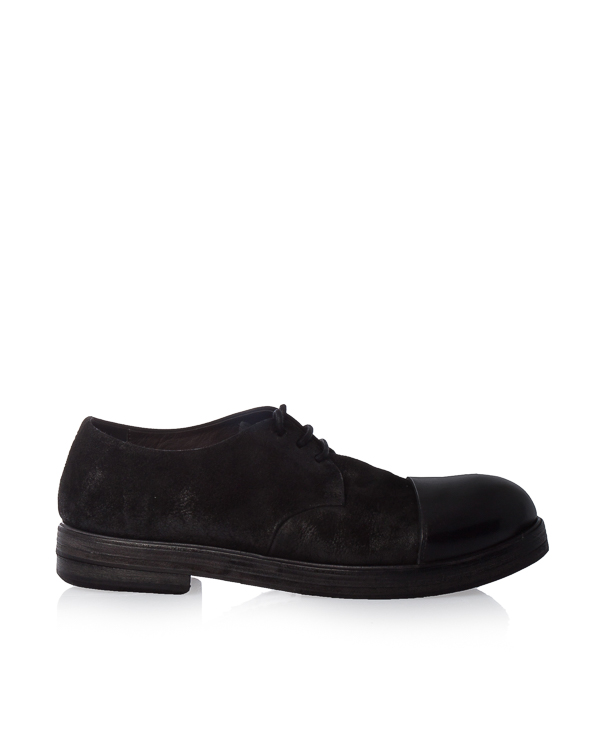 ботинки из комбинированной кожи артикул MM1175 марки Marsell купить за 30000 руб.
