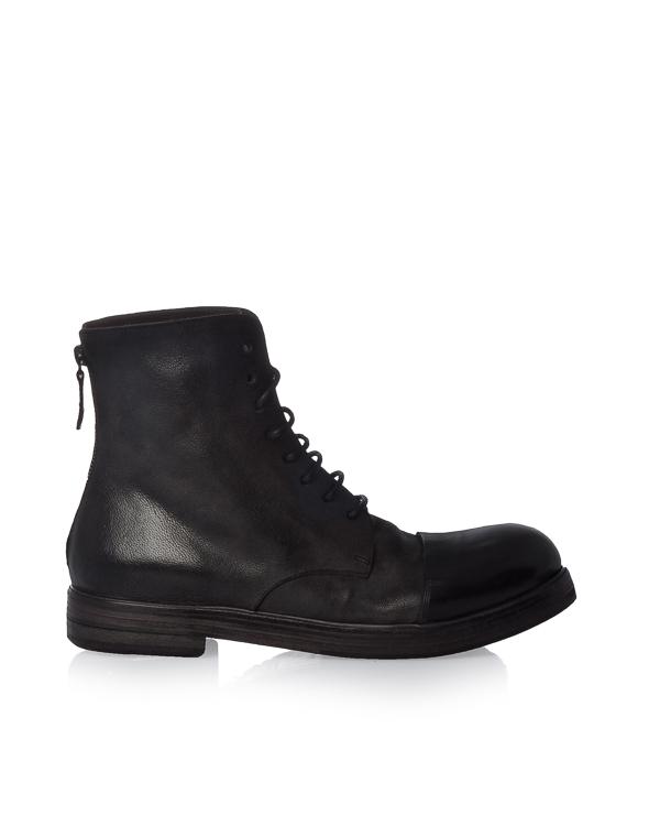 ботинки из кожи с застежкой на молнию на пятке артикул MM1331-1 марки Marsell купить за 36100 руб.
