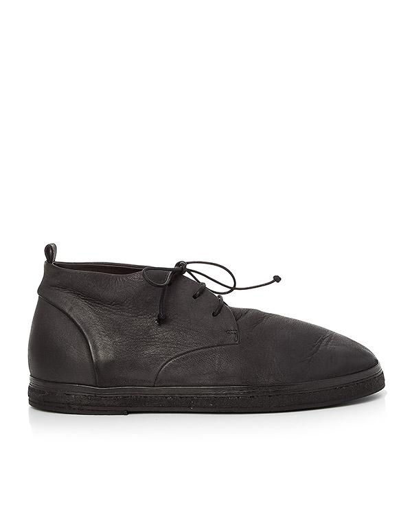 ботинки из мягкой кожи на шнуровке артикул MM1803 марки Marsell купить за 27600 руб.