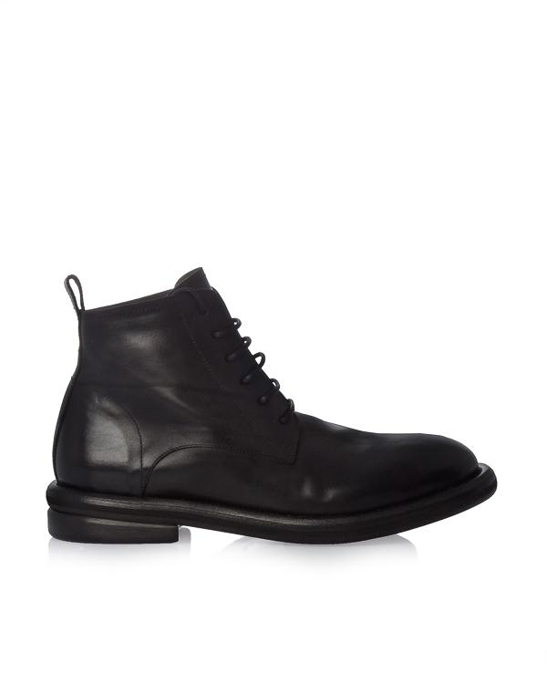 ботинки из гладкой кожи на шнуровке артикул MM2501 марки Marsell купить за 33400 руб.