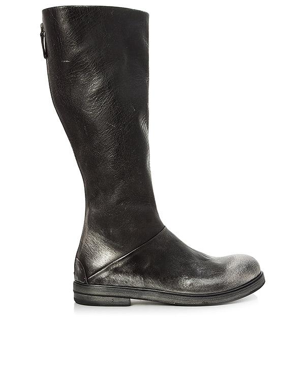 сапоги из состаренной кожи с серебряным окрасом артикул MW2570 марки Marsell купить за 46600 руб.