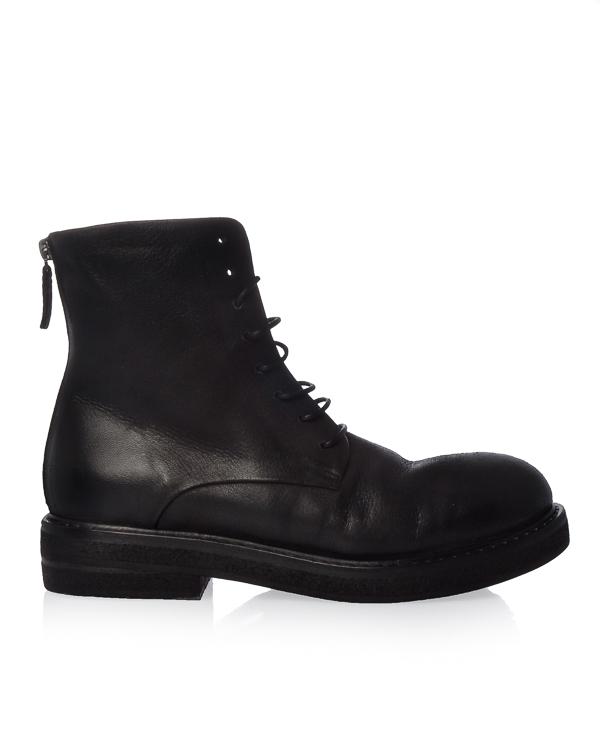 ботинки из мягкой кожи с мехом артикул MW3961 марки Marsell купить за 37200 руб.