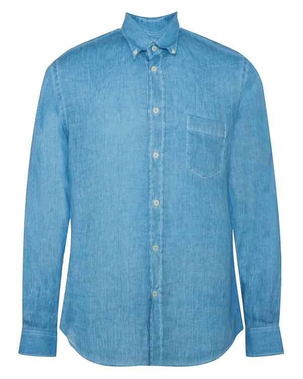 рубашка из льна прямого силуэта  артикул N0M1072 марки 120% lino купить за 11400 руб.