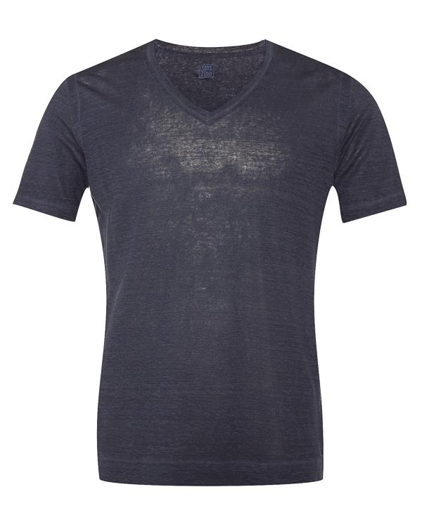 футболка из меланжевого льна  артикул N0M7915-F01 марки 120% lino купить за 9500 руб.