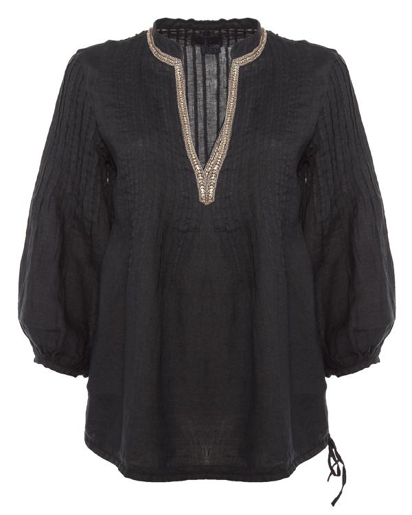 блуза из тонкого льна с рукавами-фонариками  артикул N0W1388 марки 120% lino купить за 20000 руб.
