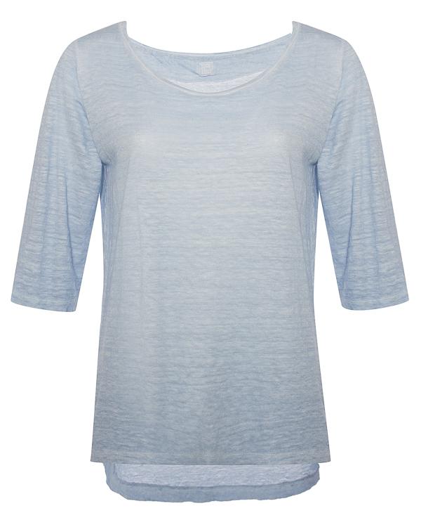120% lino из льна меланжевого голубого оттенка  артикул  марки 120% lino купить за 9900 руб.