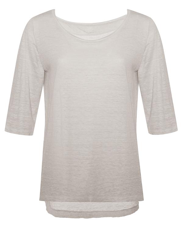 футболка из льна меланжевого голубого оттенка  артикул N0W7445 марки 120% lino купить за 6900 руб.