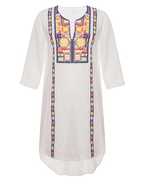 120% lino из льна с цветной вышивкой-орнаментом артикул N1W4000 марки 120% lino купить за 20700 руб.