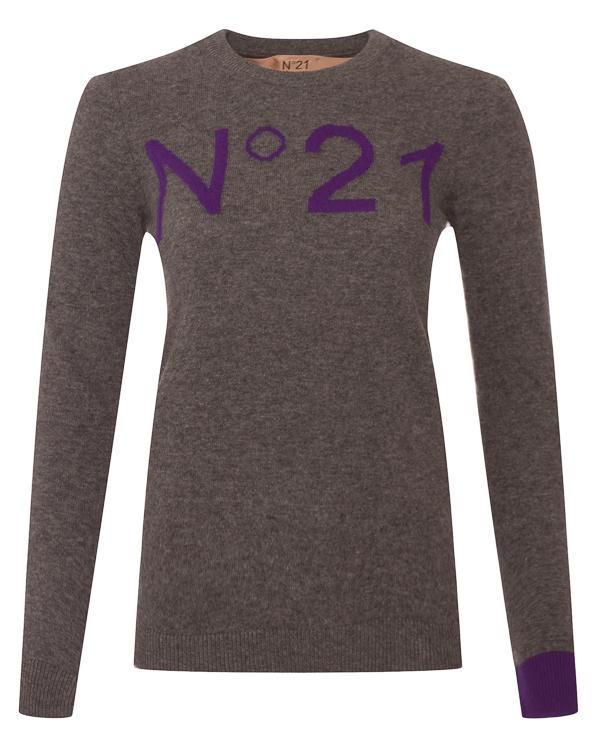 джемпер из тонкой шерсти с логотипом бренда артикул N2MA014 марки № 21 купить за 19100 руб.