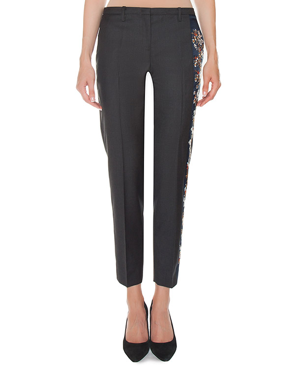 брюки из костюмной шерсти с вышивкой артикул N2MB0133 марки № 21 купить за 23000 руб.