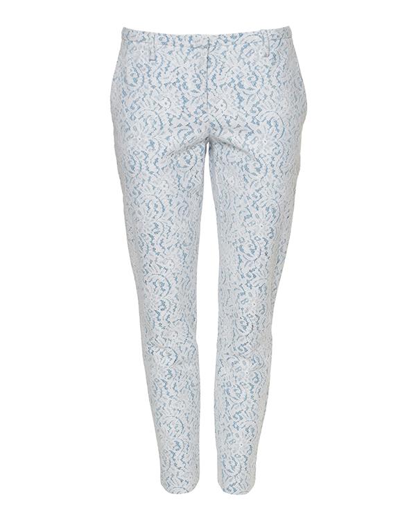 брюки с ажурным шитьем, со средней посадкой и боковыми карманами артикул N2MB014 марки № 21 купить за 21300 руб.
