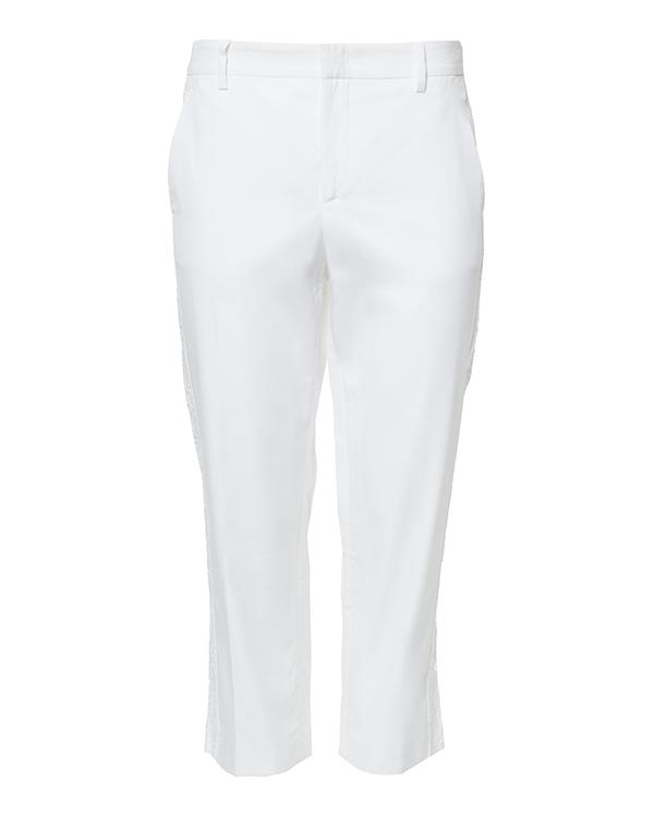 брюки из тонкого хлопка с кружевными лампасами артикул N2MB131-1101 марки № 21 купить за 14200 руб.
