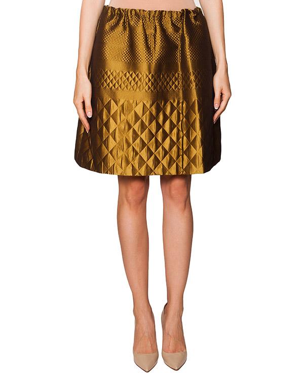 юбка из плотной блестящей ткани в выбитым фактурным узором артикул N2MC052 марки № 21 купить за 15900 руб.