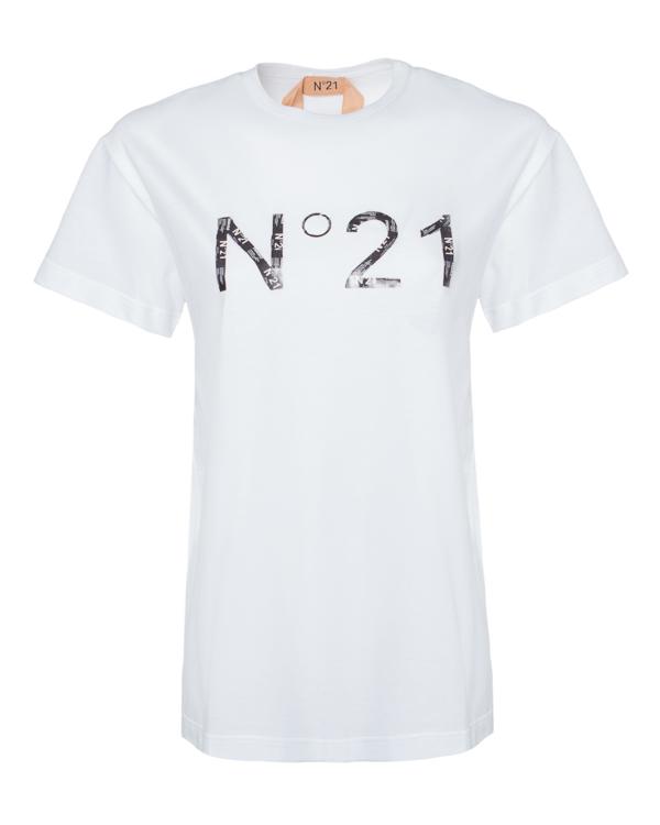 № 21 из хлопка с принтом логотипа бренда  артикул  марки № 21 купить за 16800 руб.