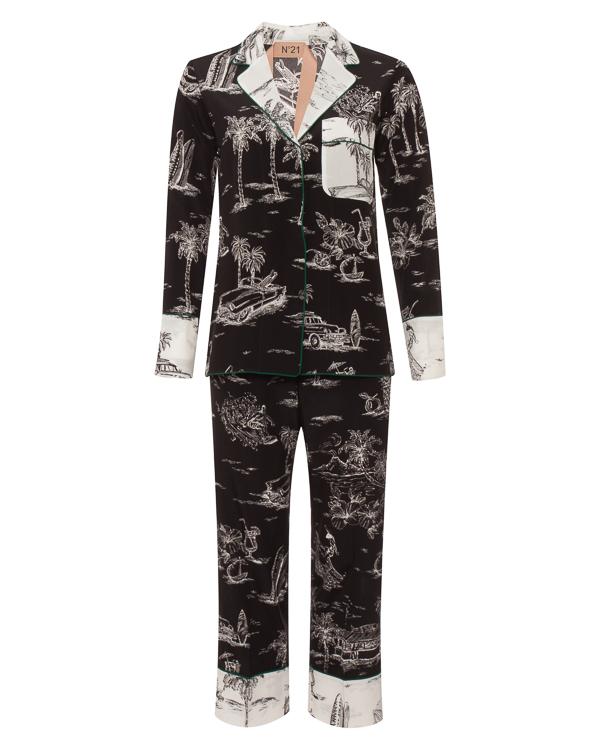 № 21 в пижамном стиле из шелка  артикул  марки № 21 купить за 62900 руб.