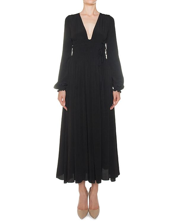 платье из тонкого жатого материала с добавлением шелка артикул N2MH261 марки № 21 купить за 47700 руб.