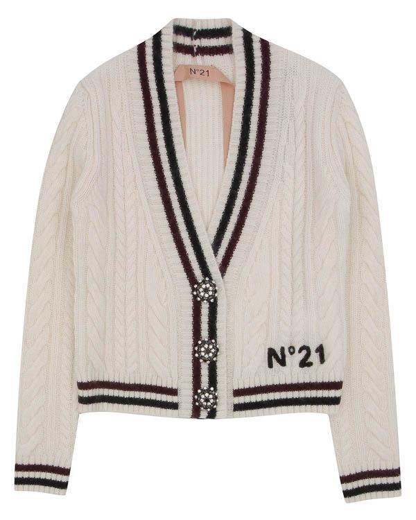 кардиган из шерсти с декоративными пуговицами артикул N2SA012N марки № 21 купить за 39100 руб.