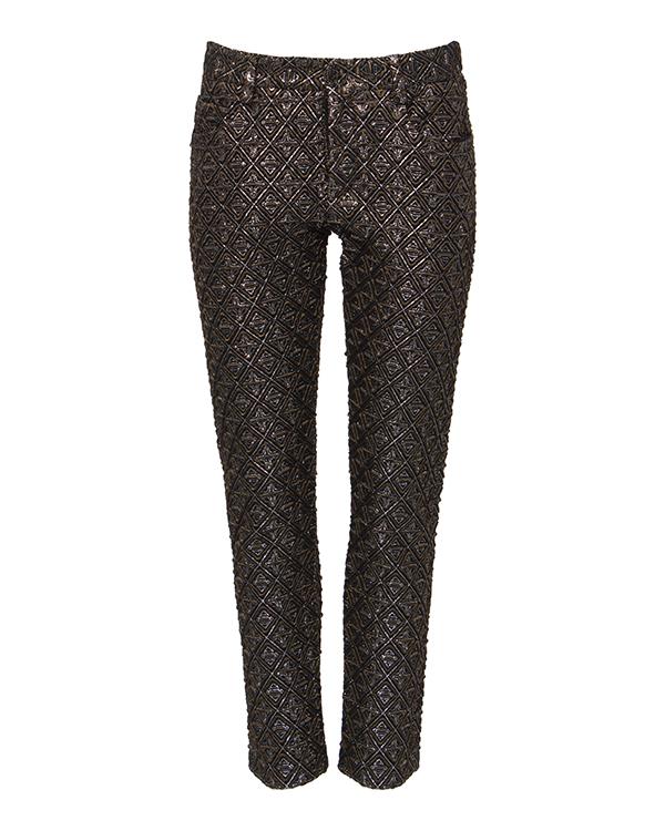 брюки прямого кроя с фактурным выбитым узором артикул N2SB212 марки № 21 купить за 20600 руб.