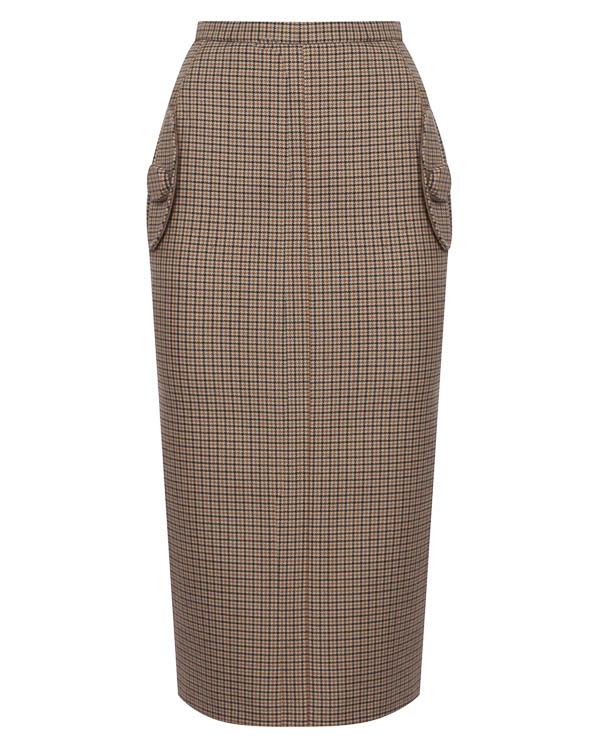 юбка миди из плотного полушерстяного неопрена  артикул N2SC022 марки № 21 купить за 32700 руб.