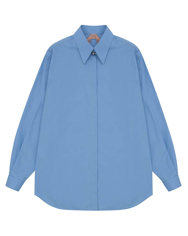 блуза из хлопка с пуговицей артикул N2SG025 марки № 21 купить за 17200 руб.