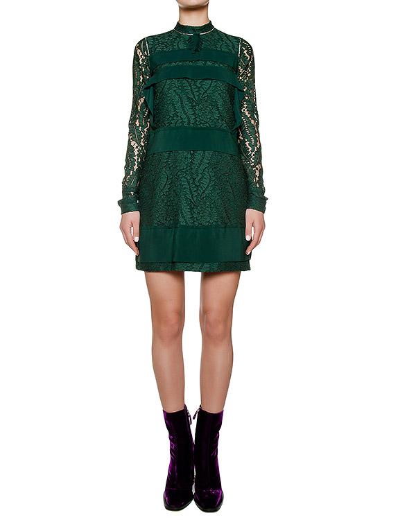 платье из плотной ткани с кружева артикул N2SH042 марки № 21 купить за 45500 руб.