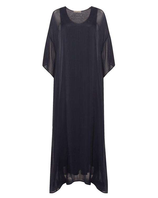 платье макси из тонкого шелка и льна  артикул N2W4010 марки 120% lino купить за 25700 руб.