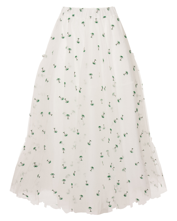 P.A.R.O.S.H. пачка из тюлевой ткани с вышивкой артикул NYPALM620029X марки P.A.R.O.S.H. купить за 6900 руб.