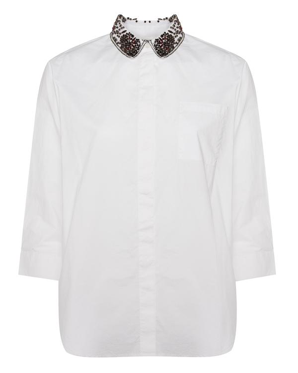 рубашка из хлопка с отделкой кристаллами  артикул OAST1 марки Essentiel купить за 5600 руб.