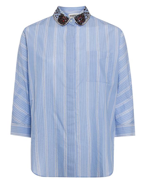 рубашка из хлопка с отделкой кристаллами артикул OAST2 марки Essentiel купить за 7800 руб.