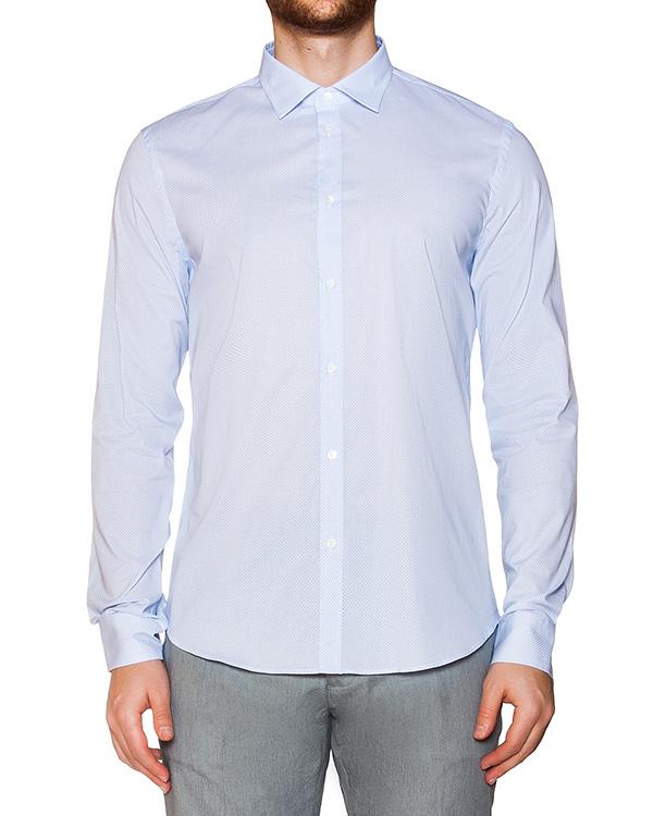 рубашка классического кроя из хлопка с узором артикул OBS16075C104 марки Obvious Basic купить за 6300 руб.