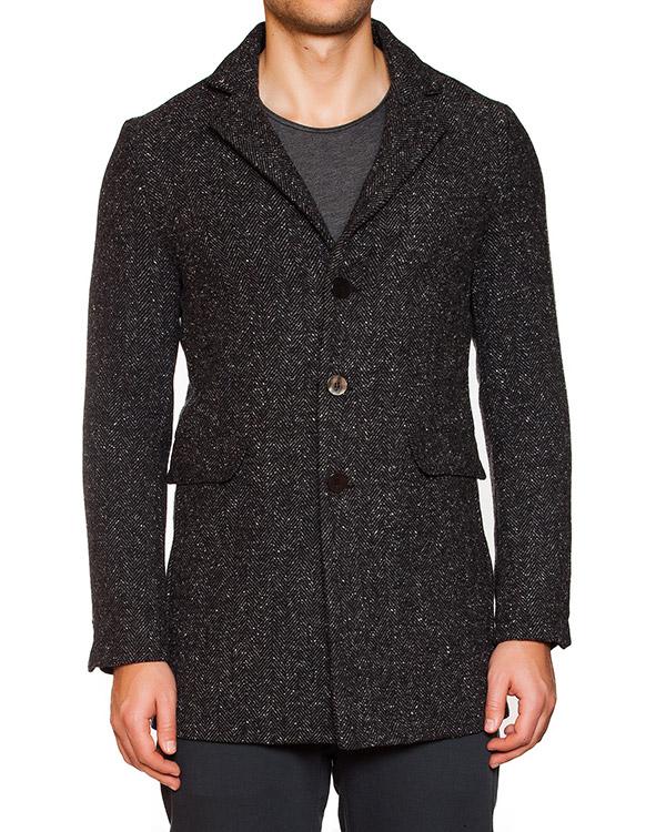 пальто однобортное из плотного твида артикул OBW15852T107 марки Obvious Basic купить за 15200 руб.