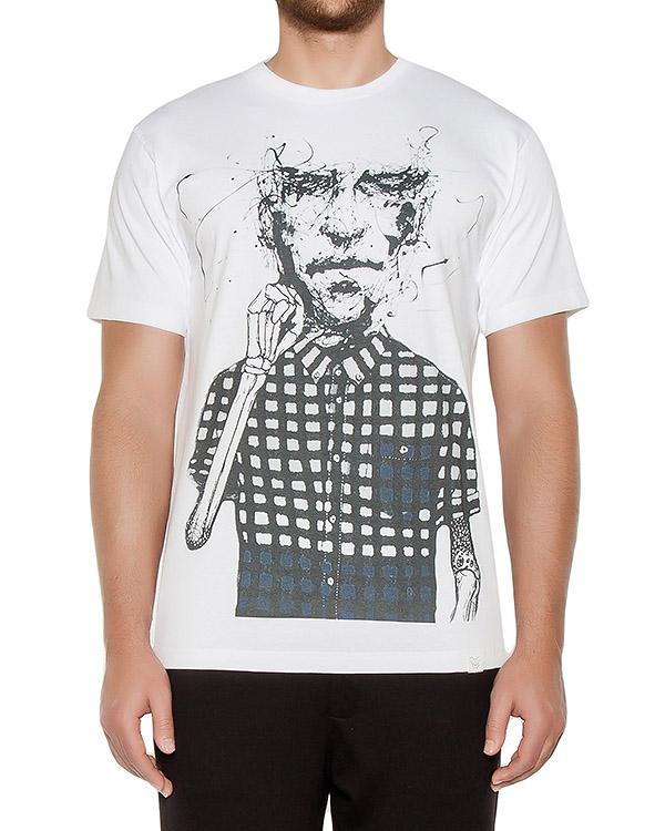футболка из хлопкового трикотажа с принтом артикул OBW16261J102K марки Obvious Basic купить за 3900 руб.