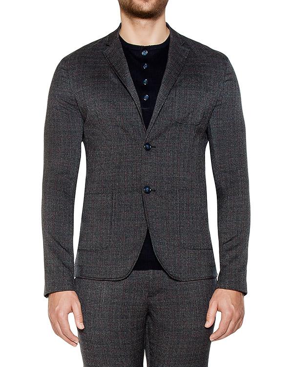 пиджак приталенного кроя из плотного трикотажа артикул OBW16450F150 марки Obvious Basic купить за 17100 руб.