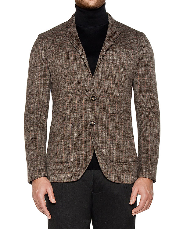 пиджак приталенного кроя из плотного трикотажа артикул OBW16450F153 марки Obvious Basic купить за 25000 руб.