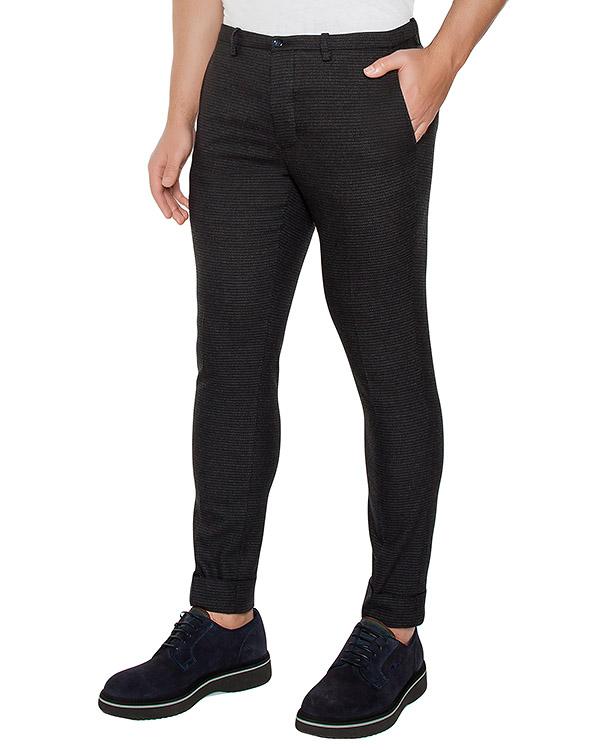 брюки классического кроя из плотной ткани артикул OBW16460P101 марки Obvious Basic купить за 8500 руб.