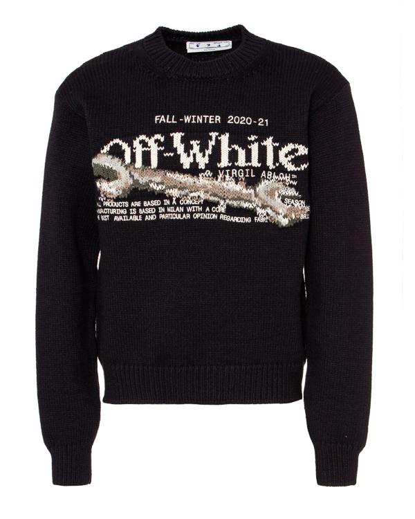 Off-White из полушерстяной пряжи   артикул  марки Off-White купить за 62500 руб.