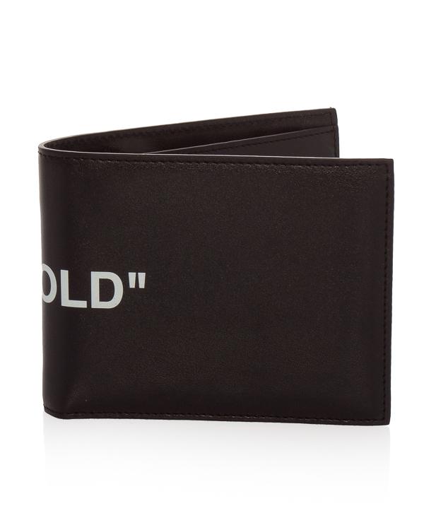 Off-White из кожи с принтом BI-FOLD артикул  марки Off-White купить за 17500 руб.