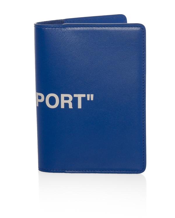 Off-White из кожи с принтом PASSPORT артикул  марки Off-White купить за 11500 руб.