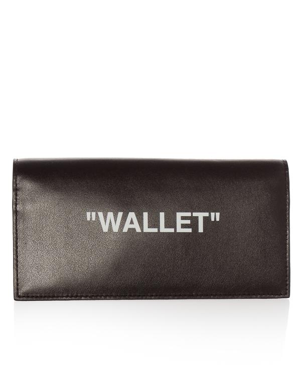 Off-White из кожи с принтом WALLET  артикул  марки Off-White купить за 13800 руб.