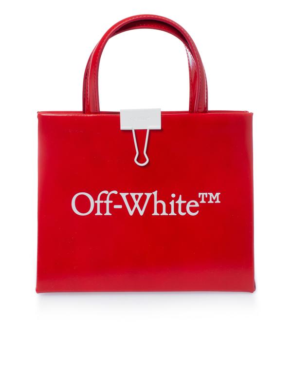 Off-White BOX BAG из глянцевой кожи  артикул  марки Off-White купить за 65900 руб.