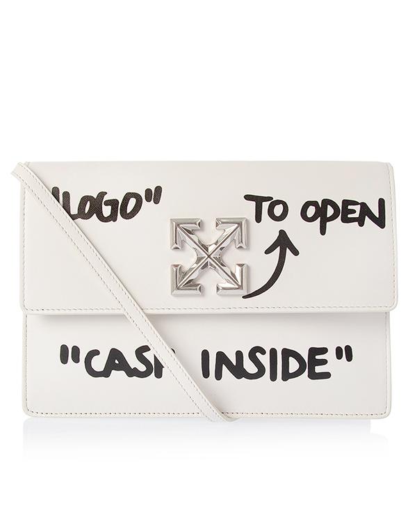 Off-White из кожи с текстовым принтом  артикул  марки Off-White купить за 44100 руб.