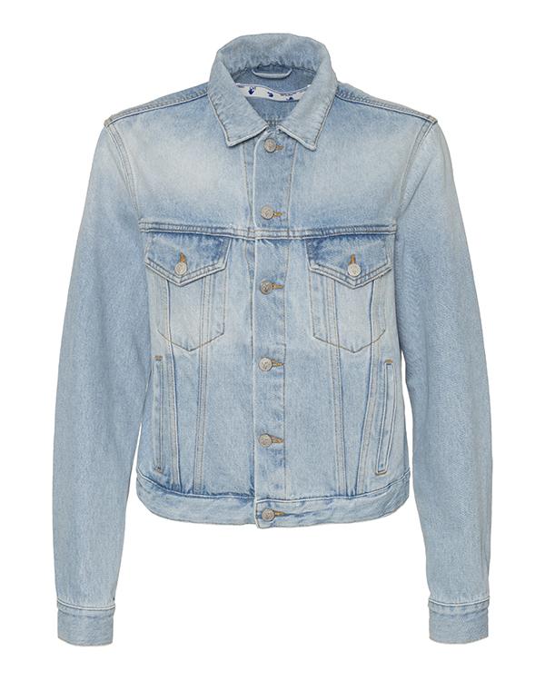 Off-White -джинсовка с принтом на спине  артикул  марки Off-White купить за 66500 руб.