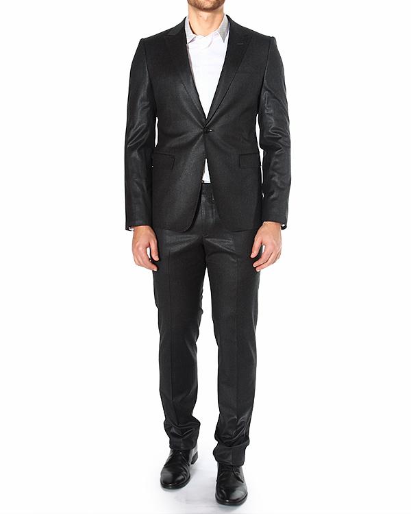 костюм приталенного силуэта из шерсти с глянцевым блеском артикул P1V16E-P1031 марки EMPORIO ARMANI купить за 37300 руб.
