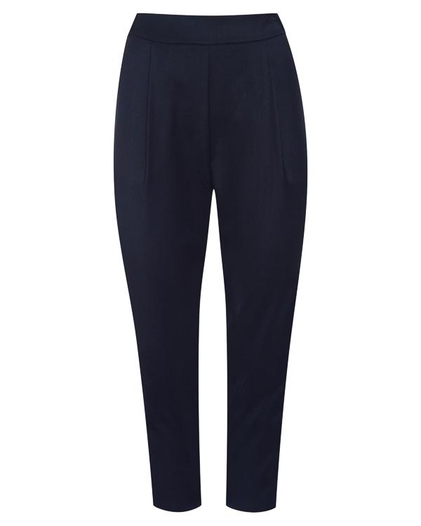 брюки укороченного силуэта из костюмной шерсти  артикул P7A205 марки Erika Cavallini купить за 14600 руб.
